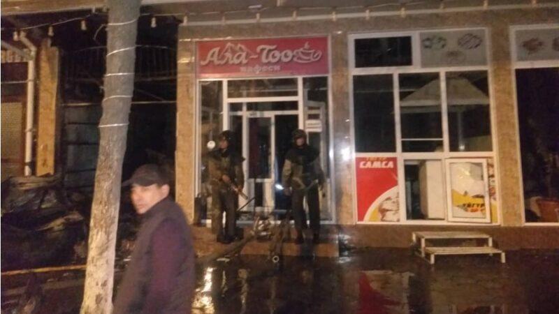 Ош шаарындагы Ала-Тоо кафеси толугу менен күйүп кетти