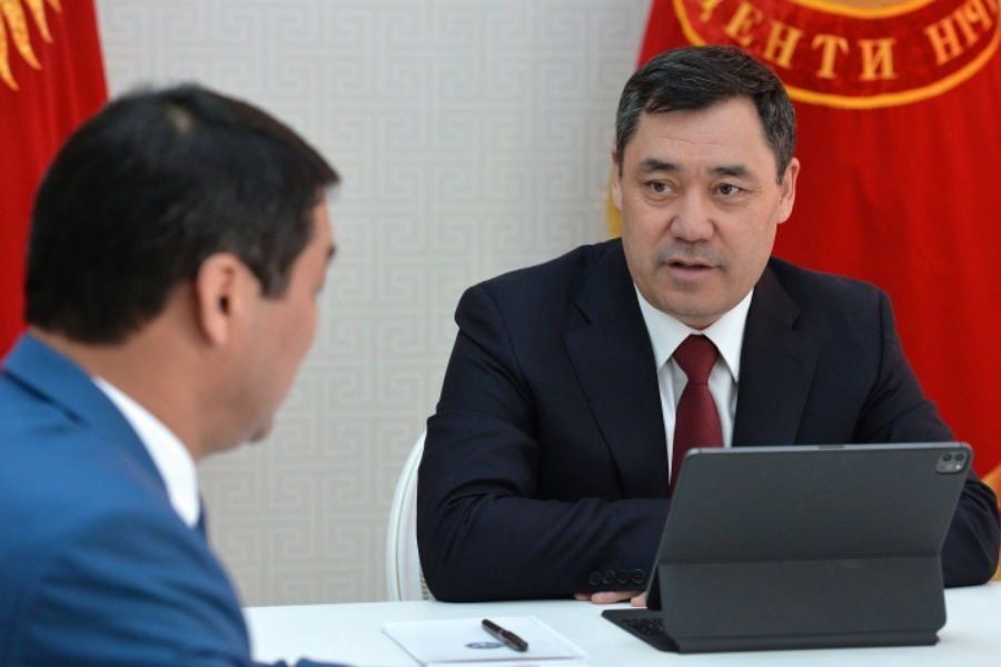 Жапаров Мамлекеттик финансылык чалгындоо кызматынын төрагасын кабыл алды