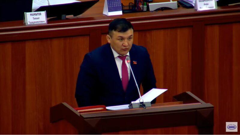 Жогорку Кеңештин жыйынында жаңы депутат Акыл Кемелов ант берди