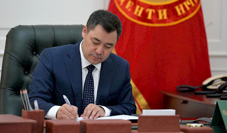 Фото/ Президент 5 өлкөгө Кыргызстандын элчилерин дайындады