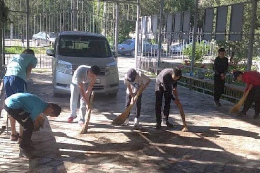 Ош шаарында ишенбиликте 2000 куб таштанды чыгарылды