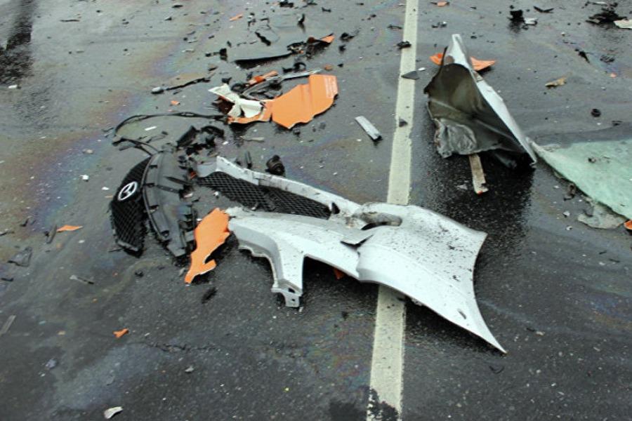 Бишкек-Ош унаа жолунда жол кырсыгы катталып, бир адам жабыркады