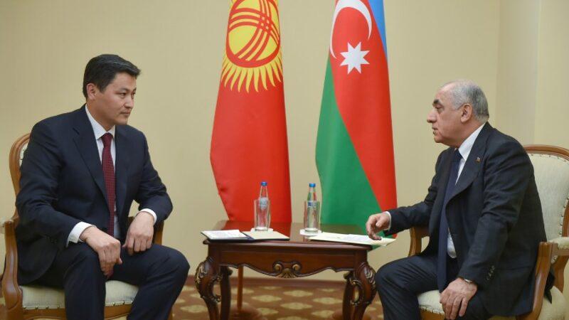 Улукбек Марипов Азербайжандын премьер-министри менен жолугушту