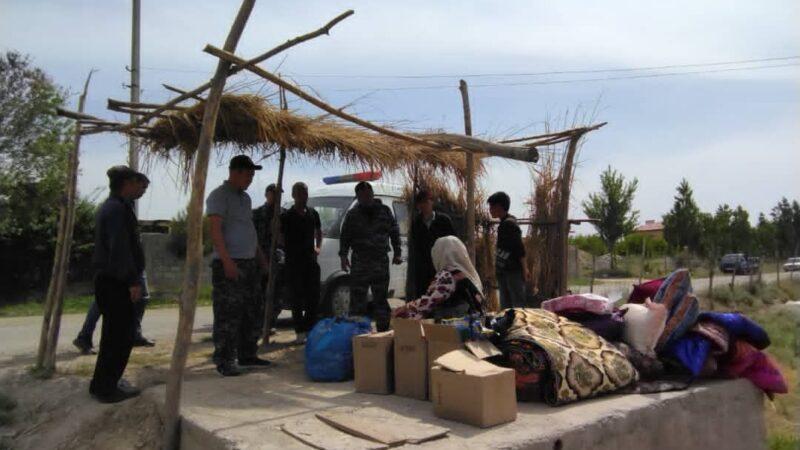 Лейлек районунун Жаңы-Жер айыл аймагында милициянын көчмө кабылдамасы иштеп жатат.