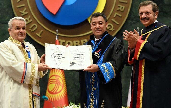 Садыр Жапаровго Анкара шаарында Экономика жана технология университетинин «Ардактуу профессору» наамы ыйгарылды