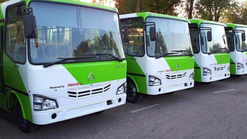 Бишкекке өзбек автобустарынын биринчи партиясы келди