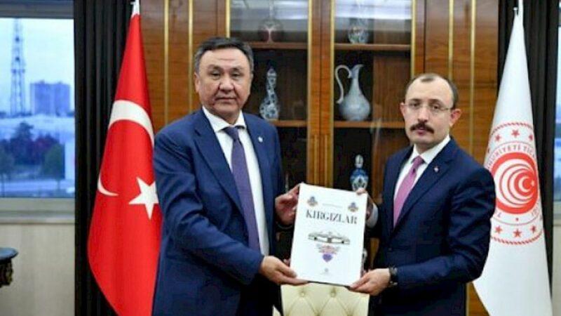 Элчи Өмүралиев Түркиянын соода министри Мехмет Муш менен жолугушту