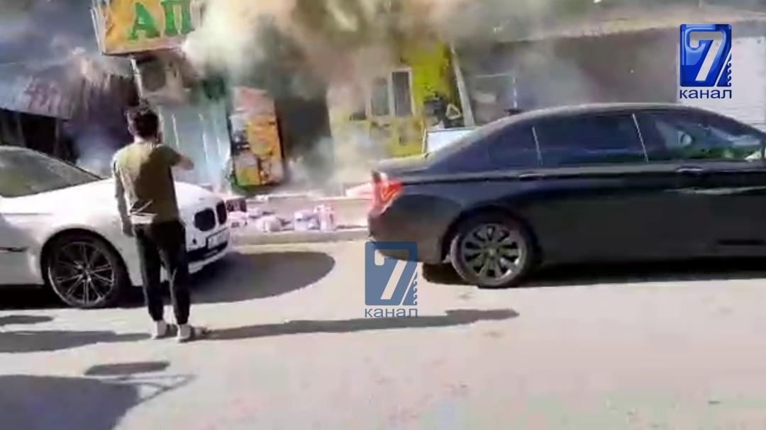 Бишкекте навайкадан өрт чыгып, азык-түлүк дүкөндөр өрттөнүп кетти
