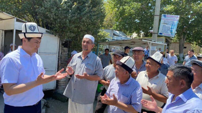 Марипов Баткендин сел каптаган айылдарына барды