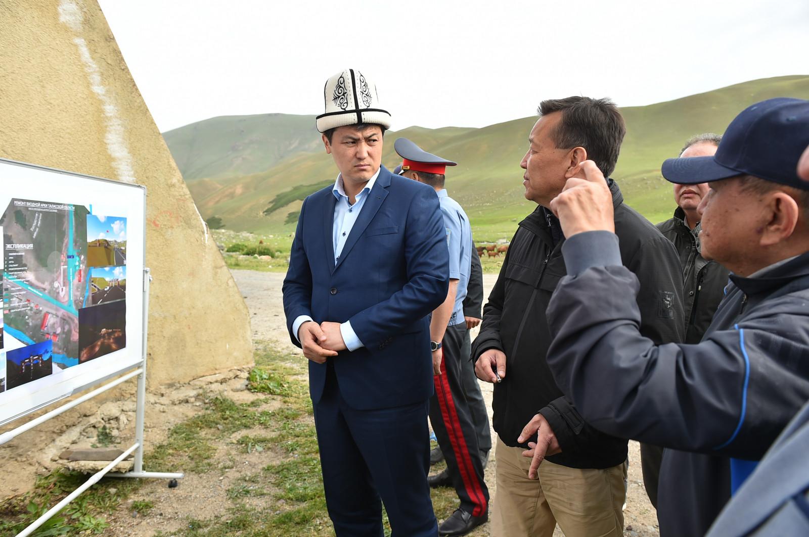 Марипов Бишкек-Ош унаа жолундагы жол кыймылынын коопсуздугуна көз салды