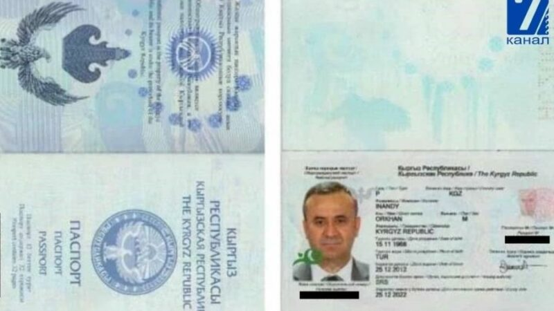 Орхан Инанды Түркия паспортун 27 жолу, Кыргыз паспортун 9 жолу пайдаланып чет өлкөгө чыккан