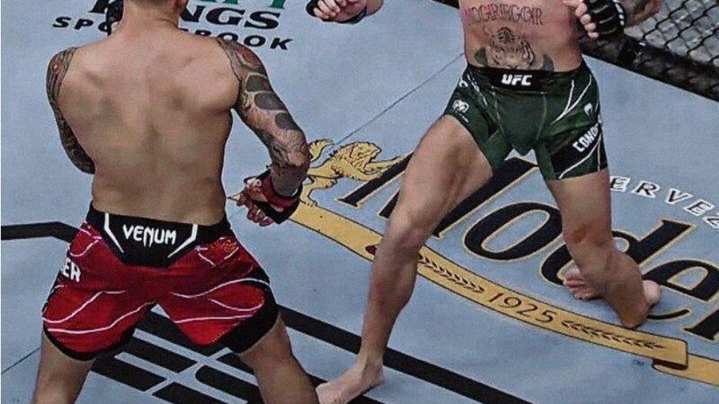 UFC беттешинде Макгрегордун буту сынып, Порьеден жеңилип калды (ФОТО)