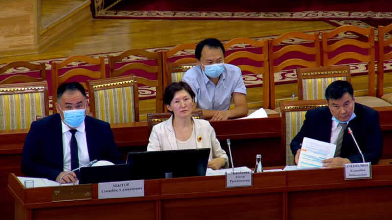 Жогорку Кеңештин депутаттары Мыйзам кыргыз тилинде корголушун талап кылды