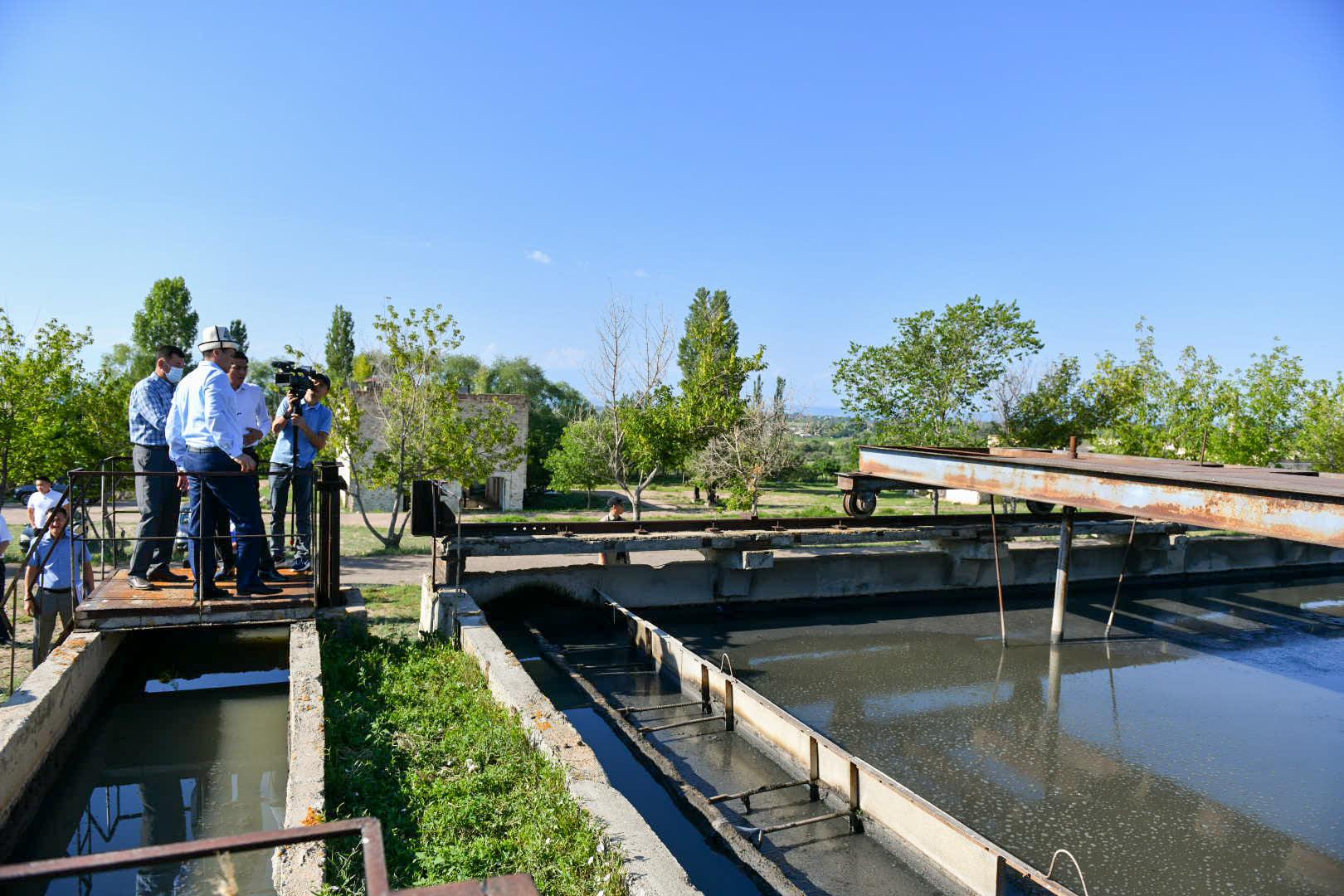 Марипов: Чолпон-Ата шаарында канализация тутумун куруу маанилүү болуп турат