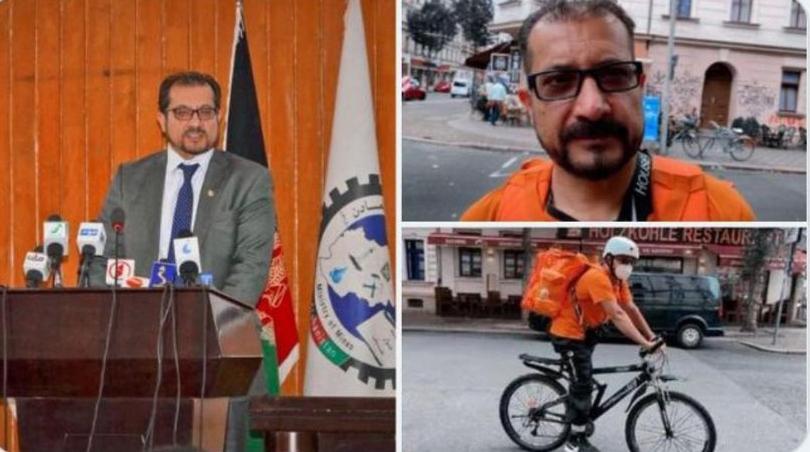 Афганистандын мурдагы министри Германияда курьер болуп иштеп жүргөндөгү сүрөтү тарады