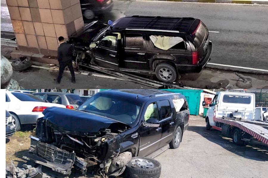 Жол кырсыгына кабылган жаранды алып качкан Lexus LX 570 кимдики?
