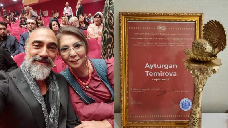 Ташкентте өткөн кинофестивалда Айтурган Темировага атайын сыйлык тапшырылды
